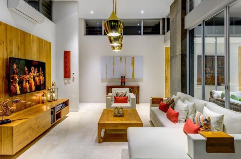 Living Area with TV - Villa Bamboo Aramanis - Seminyak, Bali