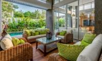 Living Area with Pool View - Villa Bamboo Aramanis - Seminyak, Bali