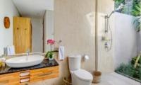 Semi Open Bathroom with Shower - Villa Bamboo Aramanis - Seminyak, Bali