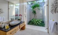 Semi Open Bathroom with Mirror - Villa Bamboo Aramanis - Seminyak, Bali