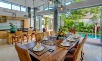 Dining Area with Pool View - Villa Bamboo Aramanis - Seminyak, Bali