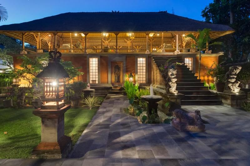 Outdoor Area at Night - Villa Batujimbar - Sanur, Bali