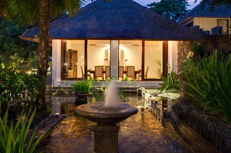 Water Fountain at Night - Villa Batujimbar - Sanur, Bali