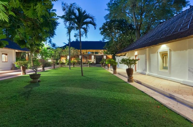 Gardens at Night - Villa Batujimbar - Sanur, Bali