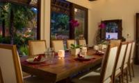 Indoor Dining Area - Villa Batujimbar - Sanur, Bali