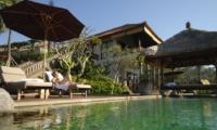 Pool Side Loungers - Villa Bayad - Ubud, Bali