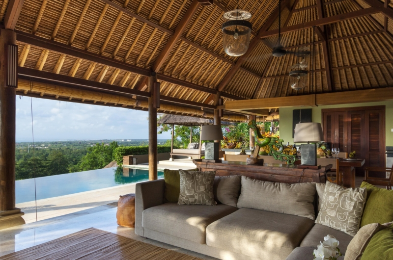Seating Area with Pool View - Villa Bayu - Uluwatu, Bali