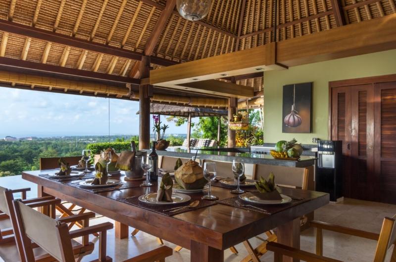 Kitchen and Dining Area with View - Villa Bayu - Uluwatu, Bali