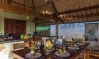 Dining Area with Crockery - Villa Bayu - Uluwatu, Bali