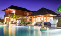 Swimming Pool at Night - Villa Bayu Gita - Sanur, Bali