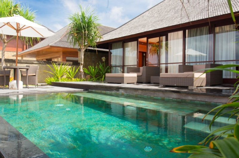 Pool Side Dining - Villa Bayu Gita - Sanur, Bali