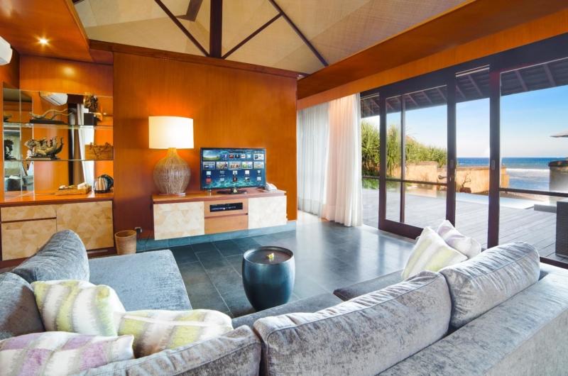 Living Area with TV - Villa Bayu Gita - Sanur, Bali