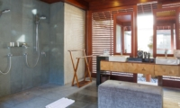 His and Hers Bathroom with Showers - Villa Bayu Gita - Sanur, Bali