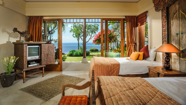 Twin Bedroom with Sea View - Villa Bayuh Sabbha - Uluwatu, Bali