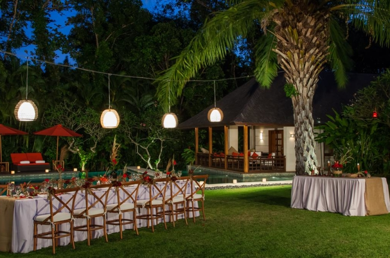 Pool Side Dining - Villa Beji - Canggu, Bali