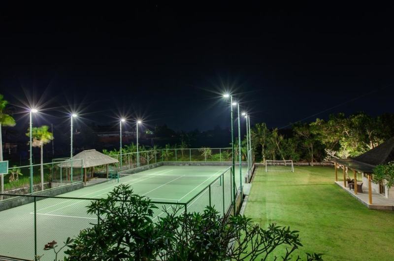 Tennis Court at Night - Villa Beji - Canggu, Bali