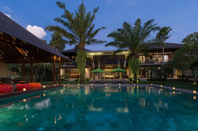 Swimming Pool at Night - Villa Bendega Nui - Canggu, Bali