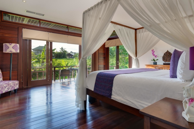 Bedroom and Balcony with View - Villa Bendega Nui - Canggu, Bali