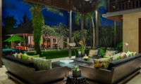 Living Area at Night - Villa Bendega Nui - Canggu, Bali