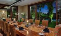 Dining Area at Night - Villa Bendega Nui - Canggu, Bali