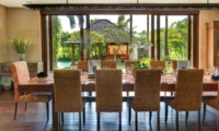 Dining Table with Pool View - Villa Bendega Nui - Canggu, Bali