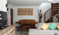 Living and Dining Area with TV - Villa Bewa - Seminyak, Bali