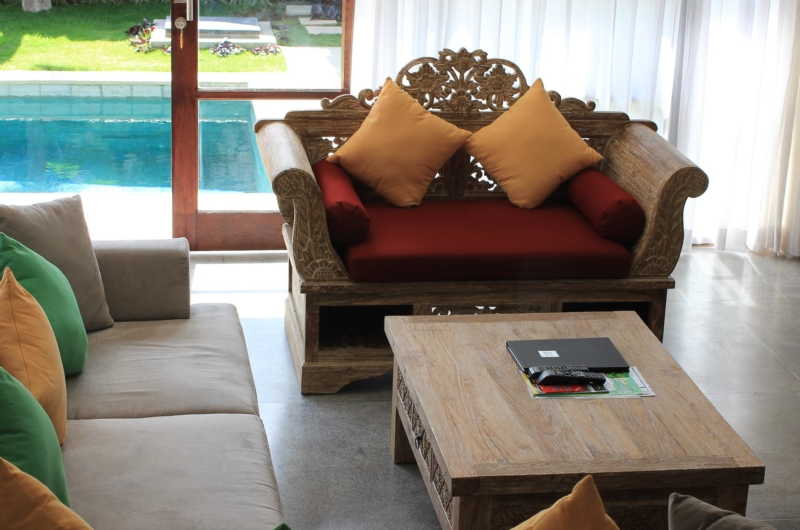 Living Area with Pool View - Villa Bewa - Seminyak, Bali