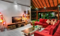 Lounge Area at Night - Villa Bibi - Kerobokan, Bali