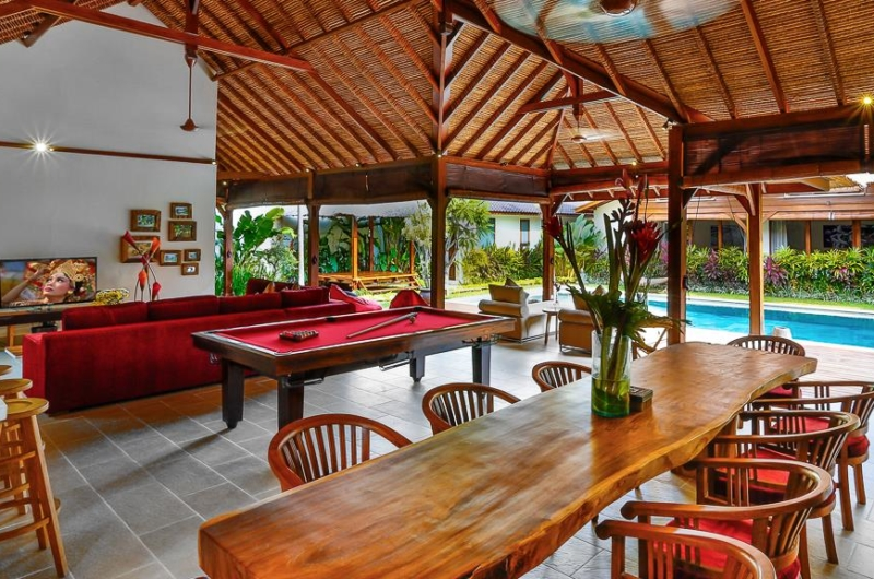 Living and Dining Area with Pool View - Villa Bibi - Kerobokan, Bali