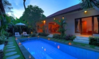 Gardens and Pool at Night - Villa Bisi - Seminyak, Bali