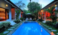 Outdoor View at Night - Villa Bisi - Seminyak, Bali
