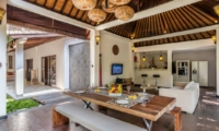 Living and Dining Area with View - Villa Can Barca - Seminyak, Bali
