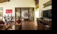 Living Area with TV - Villa Candi Kecil - Ubud, Bali