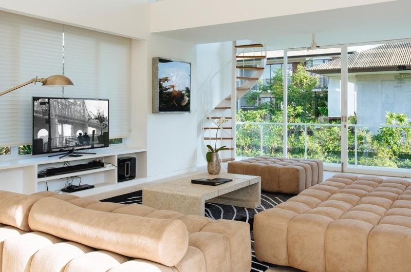 Living Area with TV - Villa Canggu - Canggu, Bali