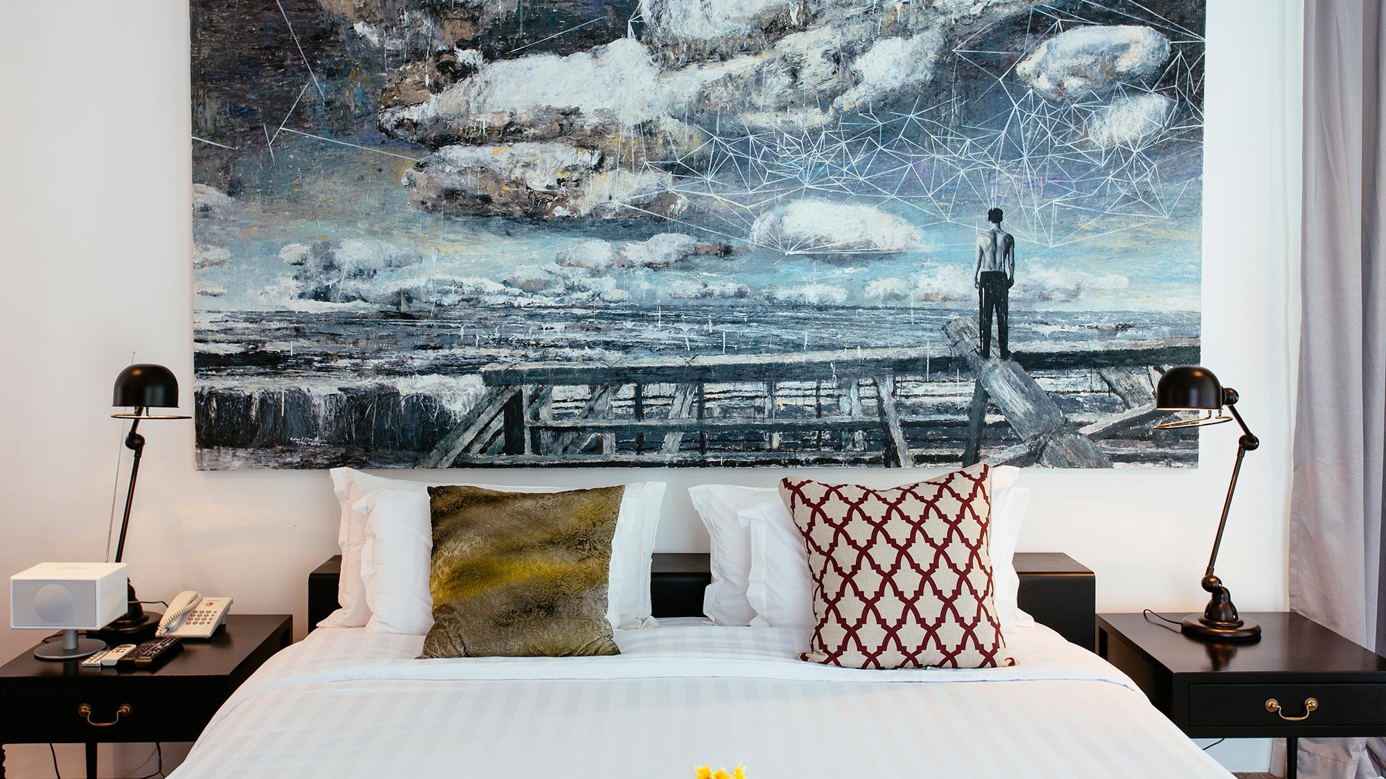 Bedroom with Table Lamps - Villa Canggu - Canggu, Bali