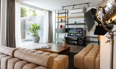 Lounge Area with TV and Lamp - Villa Canggu North - Canggu, Bali