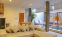 Living Area with Pool View - Villa Canish - Seminyak, Bali