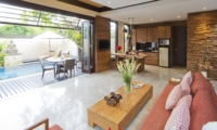 Living Area with Pool View - Villa Canthy - Seminyak, Bali