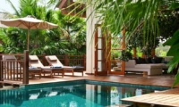 Reclining Sun Loungers - Villa Cantik Ungasan - Uluwatu, Bali