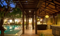 Pool Side at Night - Villa Casis - Sanur, Bali