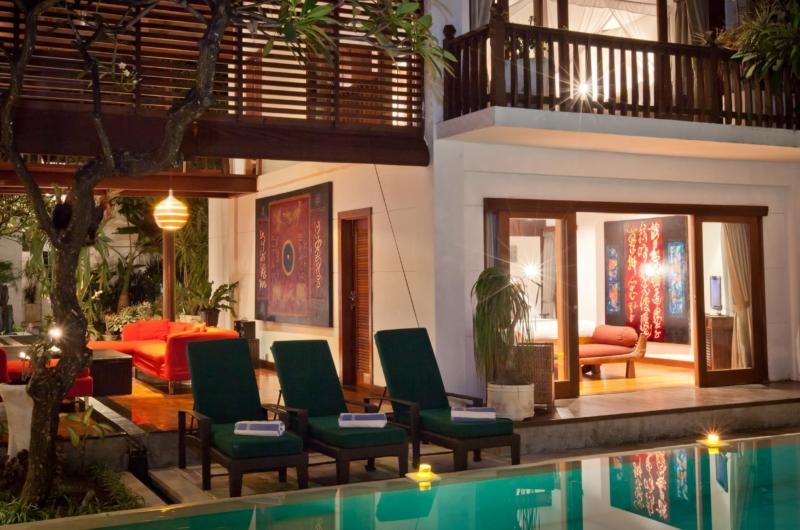 Pool Side Loungers - Villa Casis - Sanur, Bali