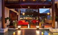 Living Area at Night - Villa Casis - Sanur, Bali