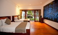 Twin Bedroom with View - Villa Casis - Sanur, Bali