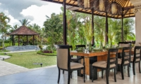 Dining Area with Garden View - Villa Cemadik - Ubud, Bali