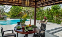 Dining Area with Pool View - Villa Cemadik - Ubud, Bali