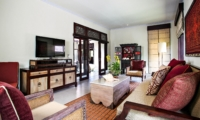 Lounge Area with TV - Villa Cemadik - Ubud, Bali
