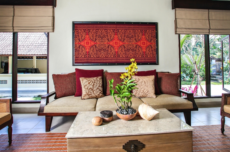 Lounge Area with View - Villa Cemadik - Ubud, Bali