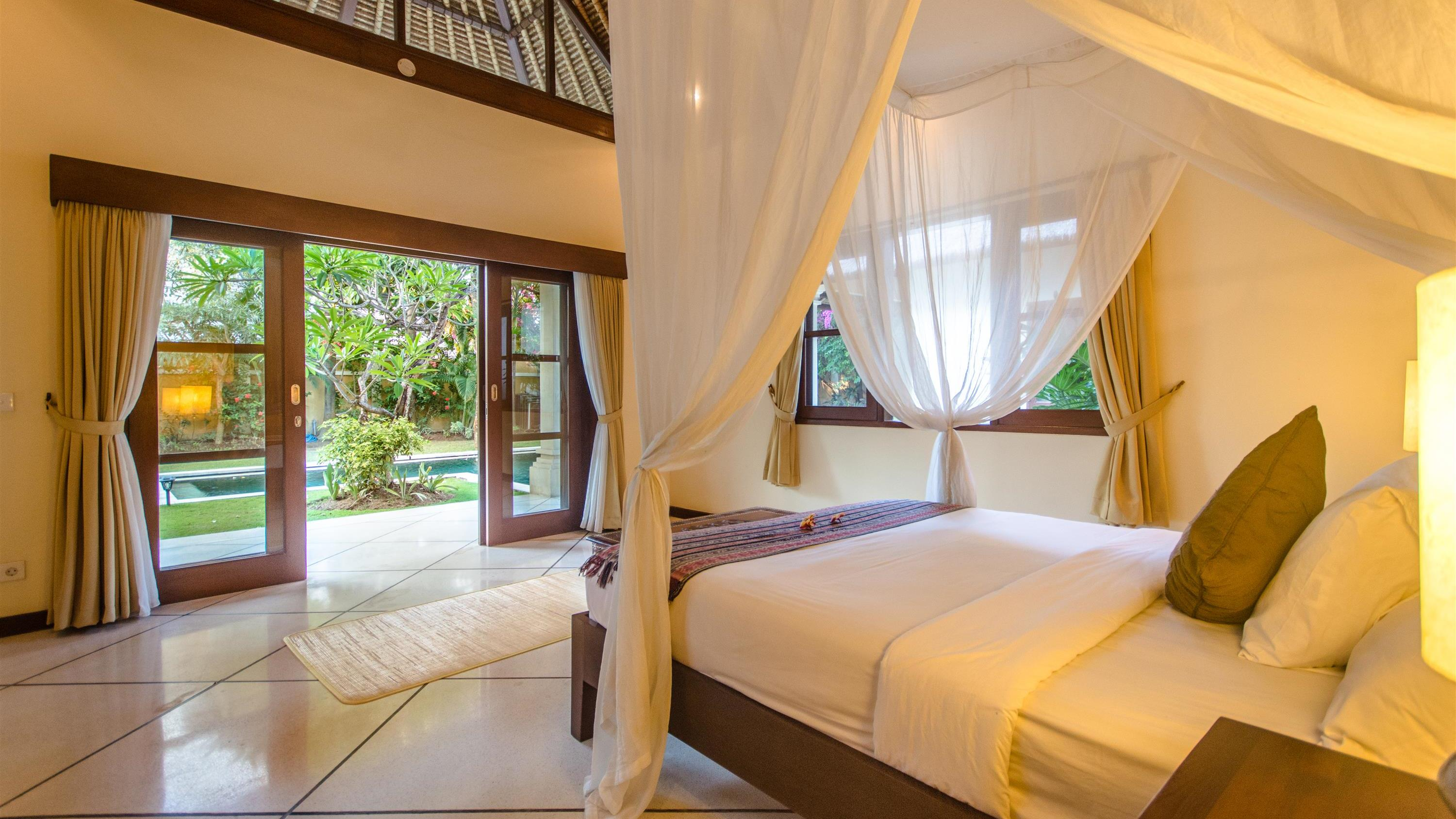 Bedroom with Pool View - Villa Cemara - Seminyak, Bali