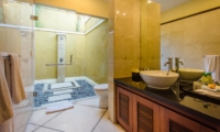 Semi Open Bathroom with Shower - Villa Cemara - Seminyak, Bali