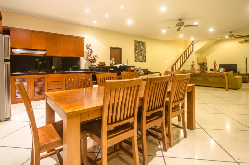 Living, Kitchen and Dining Area - Villa Cemara - Seminyak, Bali